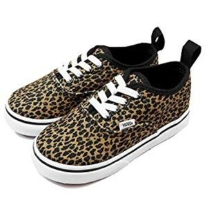 Vans Mini Leopard Elastic Lace Shoe